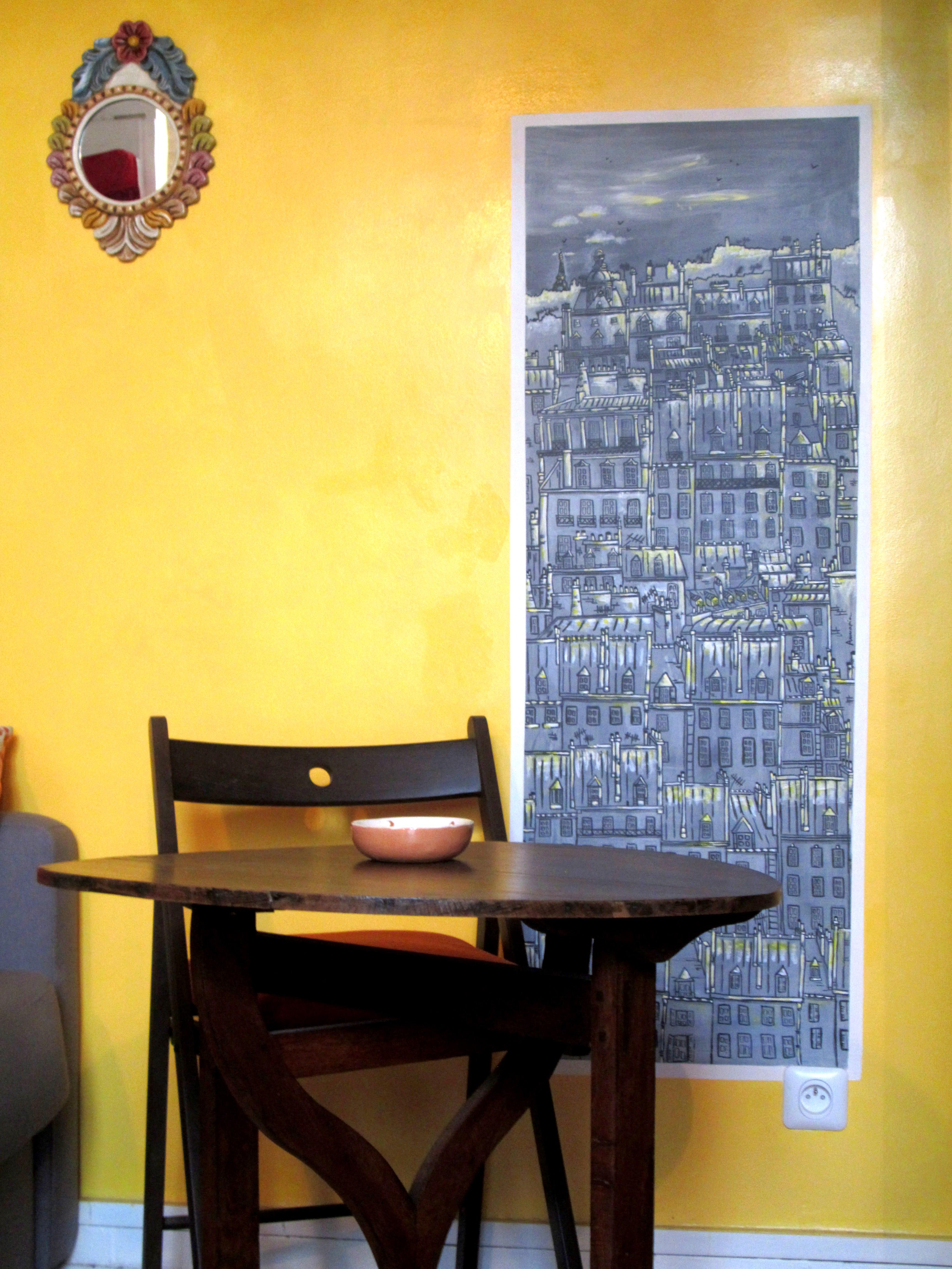 interior design home, décoration intérieure trompe l'œil mur